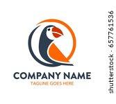 unique parrot logo template | Shutterstock .eps vector #657761536