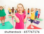 happy kids having fun with... | Shutterstock . vector #657767176