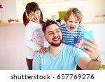 making selfie snap shot with...   Shutterstock . vector #657769276