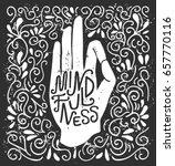 mindfulness. vector... | Shutterstock .eps vector #657770116