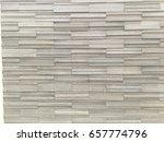 patern of grey stone wall brick ... | Shutterstock . vector #657774796