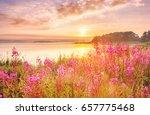 sunrise scenery over northern... | Shutterstock . vector #657775468