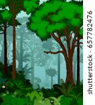 rainforest vector illustration. ... | Shutterstock .eps vector #657782476
