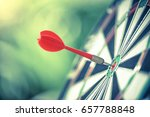darts arrows in the target... | Shutterstock . vector #657788848