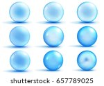 set of blue spheres with... | Shutterstock . vector #657789025