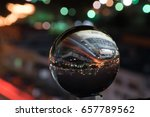 a reflection of a city in a... | Shutterstock . vector #657789562