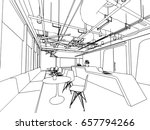 interior outline sketch drawing ... | Shutterstock .eps vector #657794266