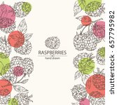 background with a raspberry and ...   Shutterstock .eps vector #657795982