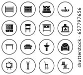 set of 16 set icons set... | Shutterstock .eps vector #657797656
