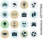 icons set. collection of beach... | Shutterstock .eps vector #657797866