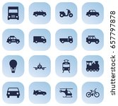 set of 16 traffic icons set... | Shutterstock .eps vector #657797878