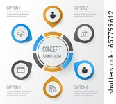 connection icons set.... | Shutterstock .eps vector #657799612