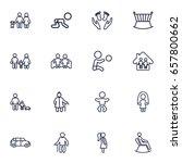set of 16 relatives outline... | Shutterstock .eps vector #657800662