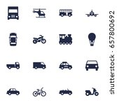 set of 16 transport icons set... | Shutterstock .eps vector #657800692