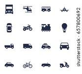 set of 16 transport icons set... | Shutterstock .eps vector #657800692