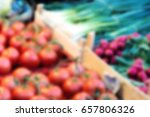 tomatoes on grocery market ... | Shutterstock . vector #657806326
