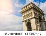 arc de triomphe de l' toile is... | Shutterstock . vector #657807442