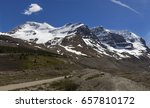 Mount Athabasca and Andromeda near Columbia Icefields Center on Icefields Parkway between Banff and Jasper National Parks