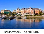 beautiful harbour view with... | Shutterstock . vector #657813382