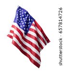 Usa Or American Flag Isolated...