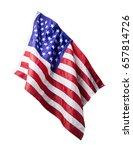 Usa Flag Isolated On White...