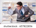 businessman rushing in the... | Shutterstock . vector #657822856