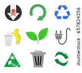 type of trash and recycle icon  ... | Shutterstock .eps vector #657824356