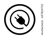electric plug icon | Shutterstock .eps vector #657824722