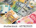 world's major currencies...   Shutterstock . vector #657825325