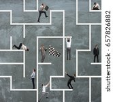 business game of maze | Shutterstock . vector #657826882