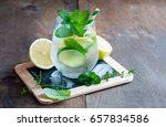 refreshing cold iced mint drink ... | Shutterstock . vector #657834586