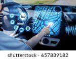 futuristic vehicle and... | Shutterstock . vector #657839182