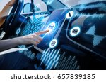 futuristic vehicle and... | Shutterstock . vector #657839185