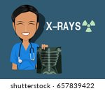 a medical staff is holding the...   Shutterstock .eps vector #657839422