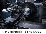 close up cnc milling machine... | Shutterstock . vector #657847912