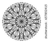 mandala decorative ornament.... | Shutterstock .eps vector #657852415