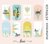wedding invitation card design... | Shutterstock .eps vector #657856126