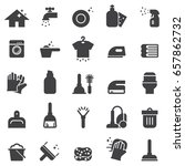cleaning icons black edition | Shutterstock .eps vector #657862732