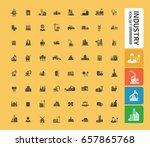 industry icon set clean vector | Shutterstock .eps vector #657865768