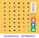 health care icon set clean... | Shutterstock .eps vector #657866422
