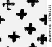 seamless black and white... | Shutterstock .eps vector #657868186