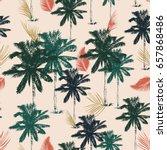 palm tree pattern seamless in... | Shutterstock .eps vector #657868486