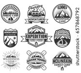 vector set of camping and... | Shutterstock .eps vector #657868792