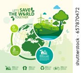 environment. let's save the... | Shutterstock .eps vector #657870472