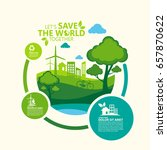 environment. let's save the... | Shutterstock .eps vector #657870622