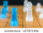 close up chess pieces on a wood ... | Shutterstock . vector #657871906