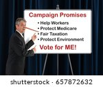 lying dishonest politician with ... | Shutterstock . vector #657872632