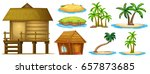 summer set different shapes of... | Shutterstock .eps vector #657873685