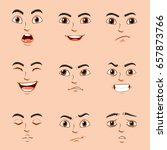 different facial expressions of ... | Shutterstock .eps vector #657873766