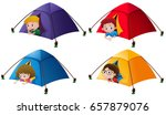 boys and girls in the tents... | Shutterstock .eps vector #657879076